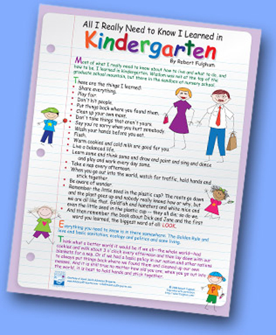 All I Really Need to Know I Learned in Kindergarten by ...