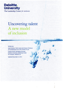 Deloitte Uncovering Talent Image